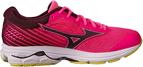 Mizuno Women Wave Rider 22 Neutral Running Shoe Running Shoes Pink - Blue 5