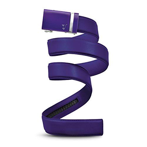 Mission Belt Men's Ratchet Belt - Praetorian - Purple Buckle/Purple Leather, Custom (up to 56)
