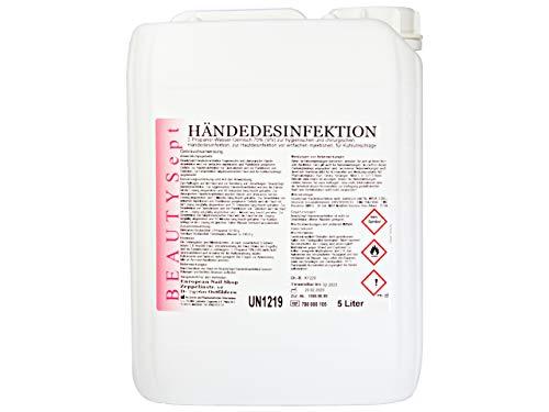 BEAUTYSept HÄNDE-DESINFEKTION - Nagelstudio - Kosmetik-Studio - Nageldesign - Pediküre - Maniküre (5 Liter)