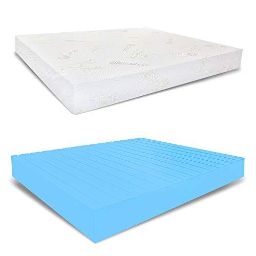 miasuite i dromen Italiaanse dubbele matras, waterschuim semi-stijf, bamboe stof, medisch apparaat, 160 x 190 x 23 cm