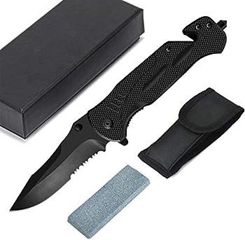 Prolife Folding Tactical Knife with Titanium Coated Blade
