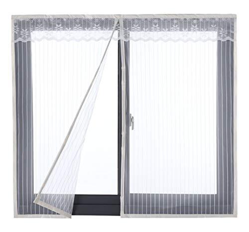 ASNFL Mosquitera Magnética, Ventana Cortina Mosquitera para Puertas, Adsorción magnética Plegable Cortina Ultrafina para Pasillos/Puertas/Ventana - Blanco 160(W) x160(H) cm