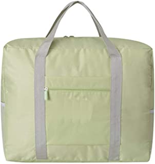 Waterproof Travel Duffel Bag Foldable Packable Lightweight High Capacity Luggage Oxford Cloth Tote Bag 1pc Green