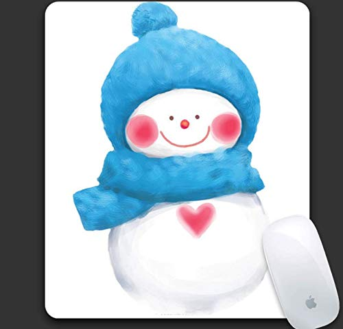 Gaming Mouse Pad, Bear Cub Wearing Blue Hat And Scarf, Durable Rubber, Portable Laptop Office Gaming Mouse Pad