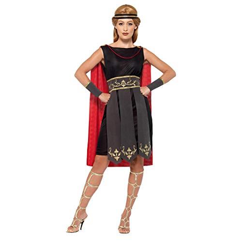 Außergewöhnliches Kostüm Römische Kriegerin / Schwarz M (38/40) / Antike Heldin Kleid mit Umhang Amazone / Wie geschaffen zu Fasching & Karneval