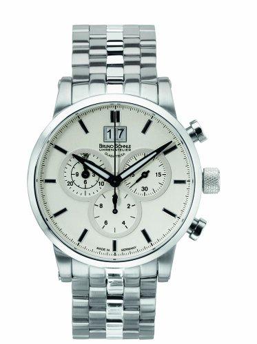 Bruno Söhnle Herren Chronograph Quarz Uhr mit Edelstahl Armband 17-13084-242