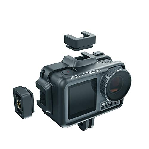 PGYTECH Beschermende Behuizing Case Frame voor OSMO ACTIE GoPro 7 6 5 Vlogging Setup Cage w Microfoon Cold Shoe Action Camera Accessoires