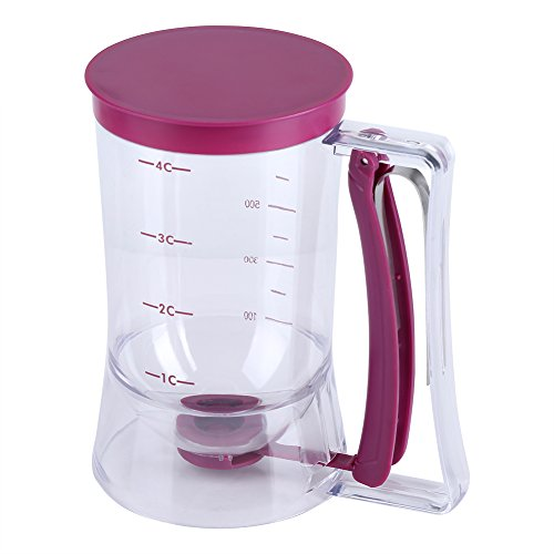 900ml Teigspender Teigportionierer Messbecher Batter Dispenser Pfannkuchen Cupcake Batter Perfektes Backwerkzeug Ideal für Cupcakes Muffins Creeps Kuchen Waffeln Gießen Teig gleichmäßig mit Messlabel