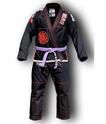 HO Style - Kimono BJJ Roll de Resistencia, Color Negro, A3