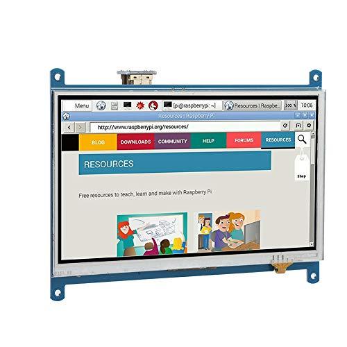 Eboxer 7 Pulgadas Pantalla Táctil Monitor HDMI con Lápiz Táctil,Pantalla HD Resistiva de 1024 * 600 TFT LCD para Raspberry Pi