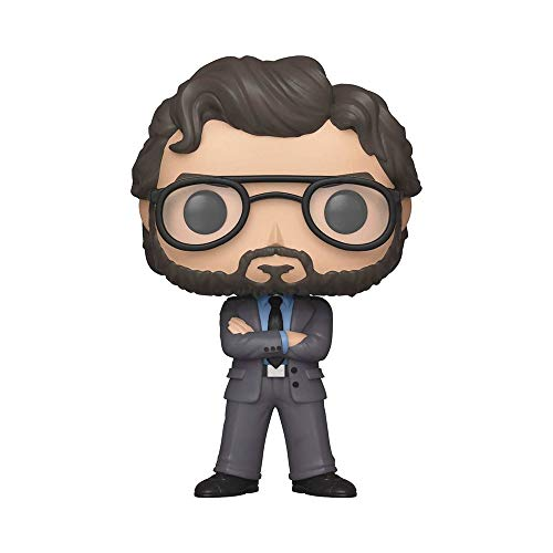 Funko- Pop Vinyl: Television: Money Heist: The Professor LA CASA di Carta Idea Regalo, Statue, COLLEZIONABILI, Comics, Manga, Serie TV, Multicolore, 34496