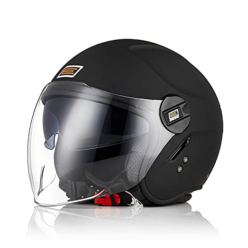 Origine Casco Moto Jet ECE 22-05 Homologado Casco Moto Abierto Scooter con Doble Visera
