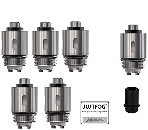 justfog/ Evaporador Q16 (6pcs) Q14 S14 G14 C14 Evaporador de Repuesto, 1.6 Ohmio