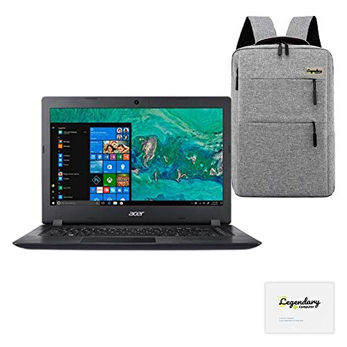 Acer 2020 Aspire 3 14 Inch HD Laptop, AMD Dual Core A9-9420e, AMD Radeon R5, 12GB DDR4 RAM, 128GB SSD, HDMI, WiFi, Windows 10 S, W/ Legendary Computer Backpack & Mouse Pad Bundle