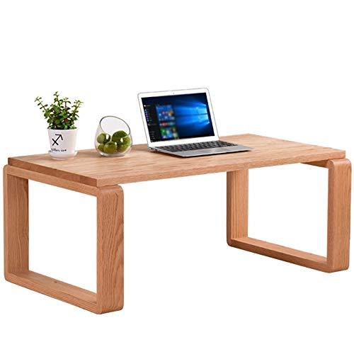 HAIZHEN Tables basses Table basse en bois massif, grande table de travail pour balcon Chambre à coucher (taille : 60×40×40cm)