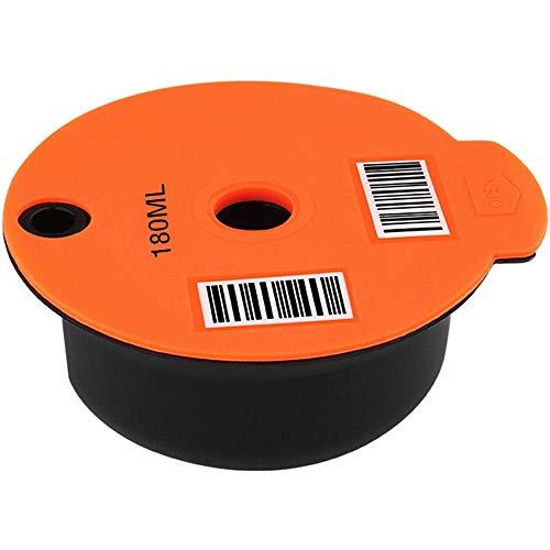 1 unidad desechable/reutilizable adaptador de cápsula accesorios compatibles con Dolce Gusto para cafetera reutilizable cápsula de plástico