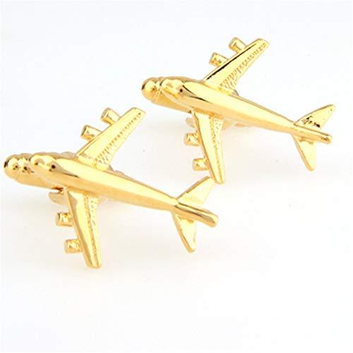 BTTNW AC Gemelos Gemelos de avión Simple de aviación for Hombres Mangas...