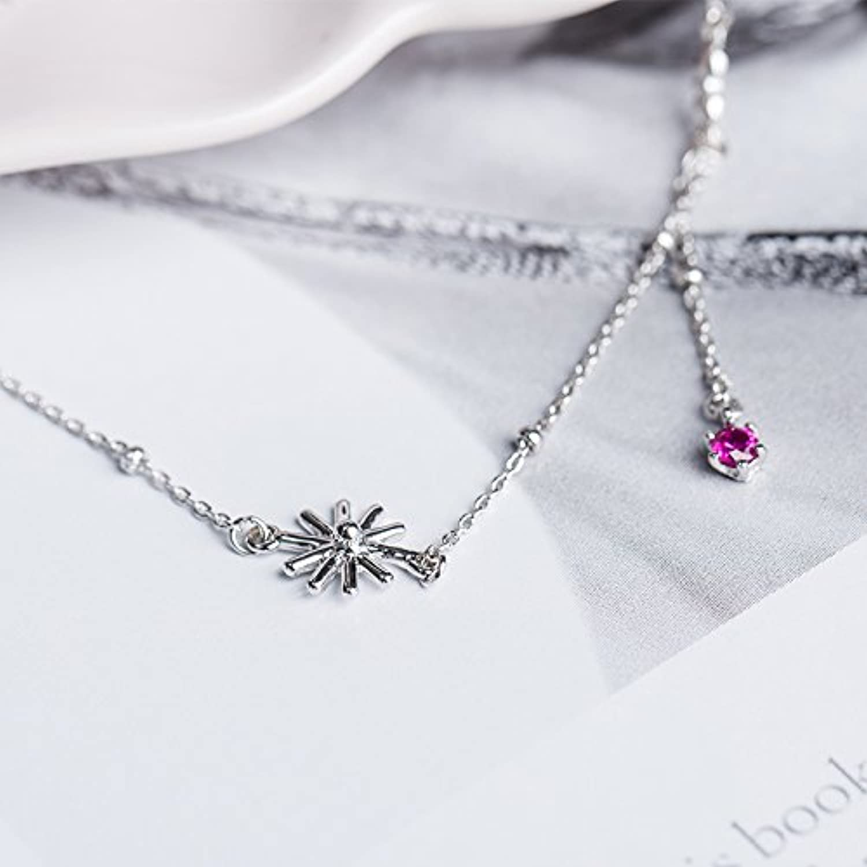 Women Girls Plant Flowers Sterling Silver Jewelry Freshly Baked Natal Women Girls Models Silver Jewelry Foot Chain Anklets