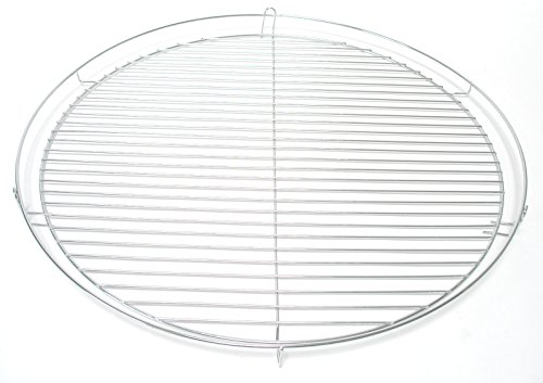 HESANI 60 cm Chrom Grillrost verchromt rund Grill Rost Grillgitter GmbH