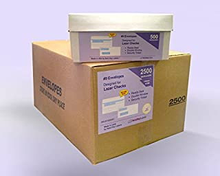 #9 Ready-Seal Double Window Security Tinted Check Envelopes, Compatible for QuickBooks Checks, Sage 100 program, Blackbaud Software ETC, Case of 2500 Envelopes