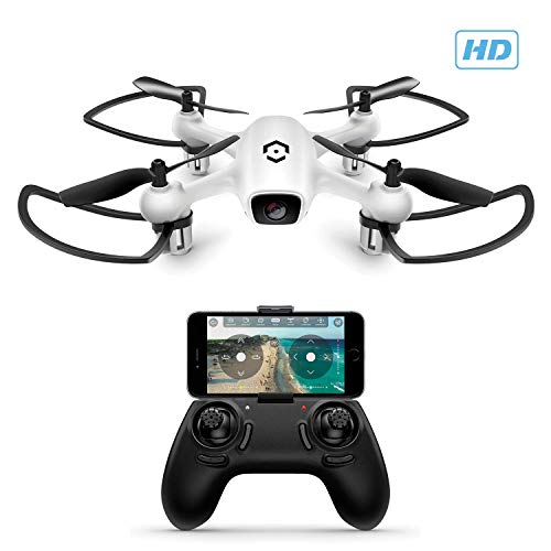 Amcrest A4-W Skyview WiFi Drone with Camera HD 720P FPV Quadcopter, Training Drone for Beginner & Kids, RC + 2.4ghz WiFi Helicopter w/Remote Control, Headless Mode, Smartphone (White)