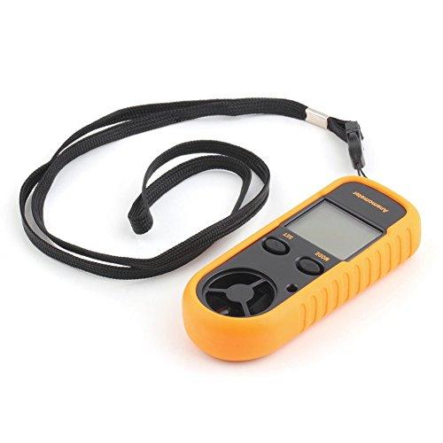RGBS Anemometer, Windstärkenmessgerät, Windmesser, Digitales LCD-Display, misst Geschwindigkeit, Thermometer mit Hintergrundbeleuchtung fürs Windsurfen, Drachenfliegen, Segeln, Surfen, Angeln etc.