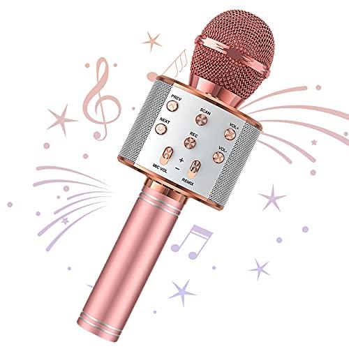 Wowstar Wireless Microphone, Karaoke Bluetooth Microphone for Kids Adults,...