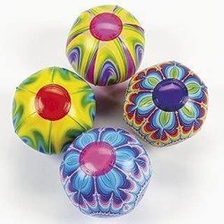 Mini Tie Dye Beach Balls (1 dozen) - Bulk by Fun Express