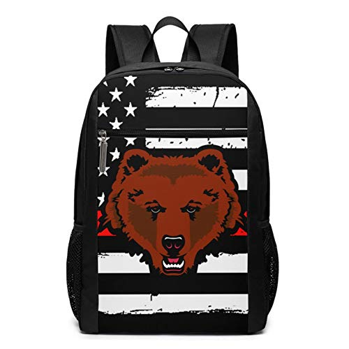 Brown Bears Laptop Backpack 17 Inch for Men Business Computer Backpack Bag Women Travel Daypack Large College School Bookbag Teens