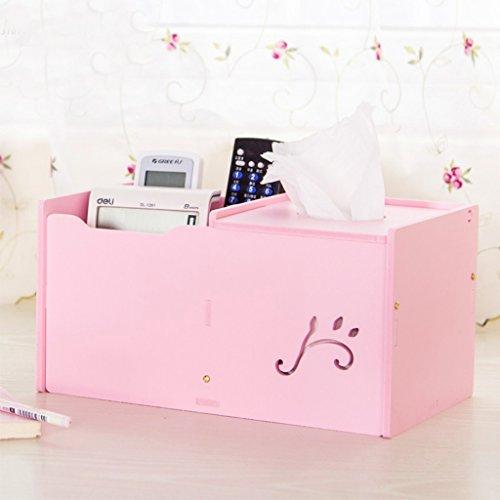 Accueil Salle de séjour Rouleau de papier Tube boîte de tissus Creative télécommande Boîte de rangement Bureau Simple serviette de papier cylindre Roll Paper Tray (couleur : Rose)