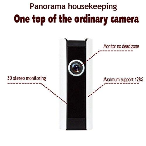 180¡ãpanoramic cámara 1millones de píxeles blanco Home seguridad sistemas de cámara 720p HD detección de movimiento cámara de seguridad visión remota casa de voz bidireccional