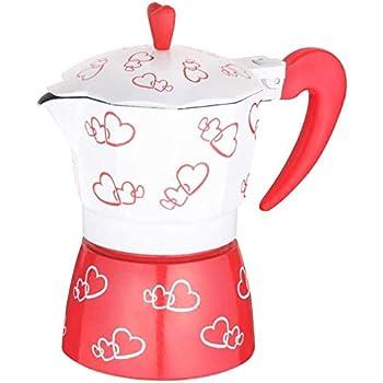 Cafetera Aluminio Aleación Máquina de Café Romántico Corazón Rojo ...
