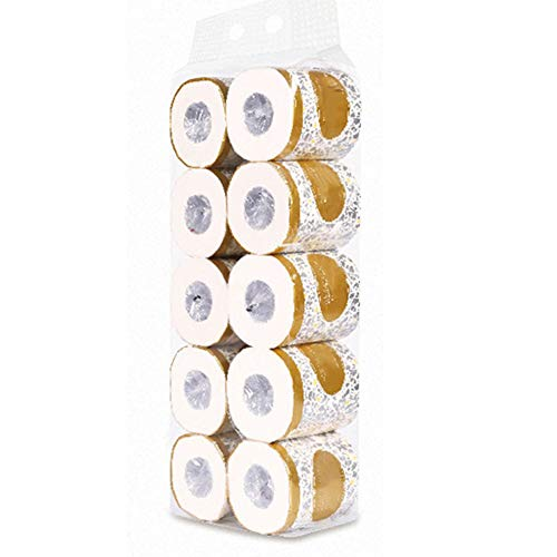 ALEXTREME Toilet Paper Bathroom Tissu 10 Rolls Toilet Paper 3-ply Bath Tissue Bathroom White Soft for Home Hotel Public