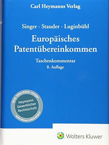 Europäisches Patentübereinkommen EPÜ: Taschenkommentar