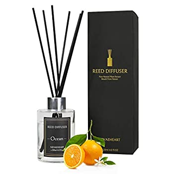 NEVAEHEART Reed Diffuser Ocean Scented Reed Diffuser Set 4.0 oz  120ml  Oil Diffuser Sticks Home Fragrance Products Fragrance Diffuser