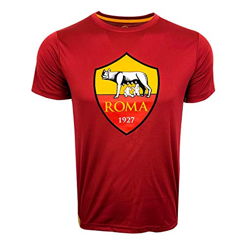 A.S. Roma Shirt, Kids Sizes, Licensed AS Roma Soccer T-Shirt (XXX-Small (Youth Medium 7-9 Years)) Red