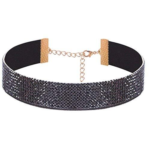 Choker Halskette Gothic Strass Schmuck Damen Lovers 'Simple Necklace Choker Schmuck Strass Choker, bk