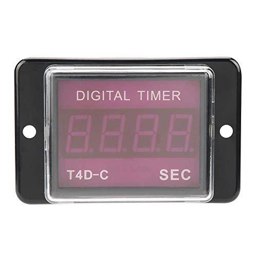 L-YINGZON Relay Temporizador Digital Relay T4D-C LED Digital Temporizador Tiempo del relé de 99,9/999 Sec MIN HR Contador de Tiempo