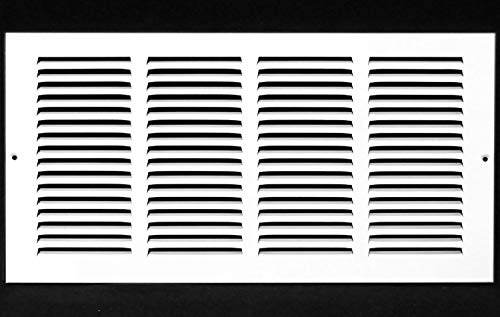 16'w X 8'h Steel Return Air Grilles - Sidewall and Ceiling - HVAC Duct Cover - White [Outer Dimensions: 17.75'w X 9.75'h]