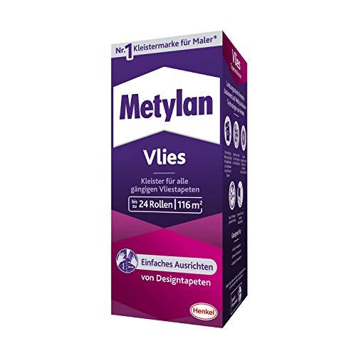 Metylan Vlies, Tapetenkleister für Vliestapeten mit glatter oder strukturierter Rückseite, einfach zu verwendender Tapetenkleister, Kleister mit hoher Ergiebigkeit, 1x720g