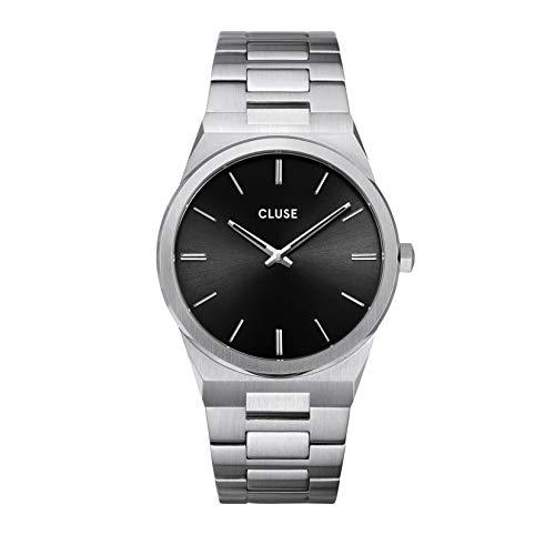 Cluse Herren-Armbanduhr CW0101503004 Vigoureux Edelstahl Silber Schwarzes Ziffernblatt 40 mm 5 ATM