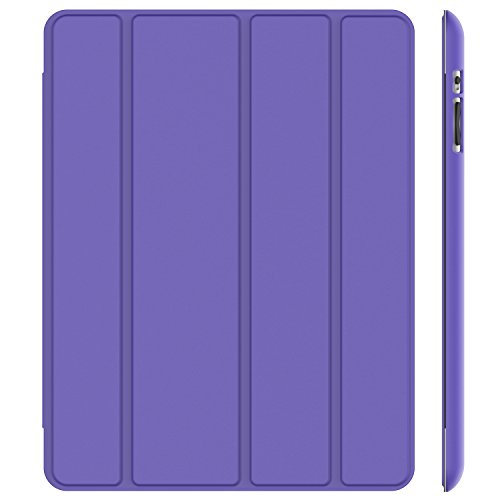 JETech Case for iPad 2 3 4 (Oldest Models), Smart Cover Auto Wake/Sleep, Purple