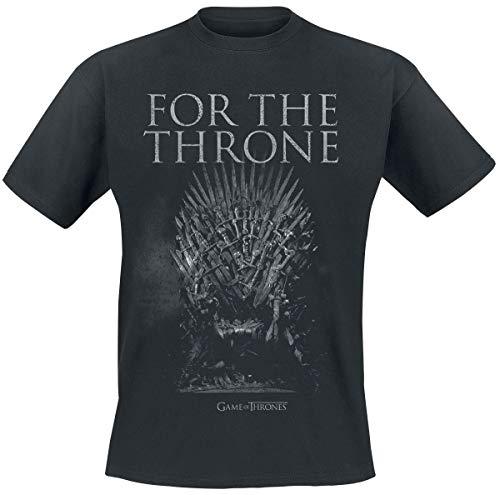 Game Of Thrones Juego de Tronos For The Throne Camiseta Negro M