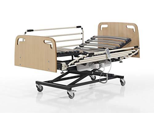 SANTINO Camas Articuladas Geriátrica de Hospital con Carro Elevador Medida 90 x 190 cm