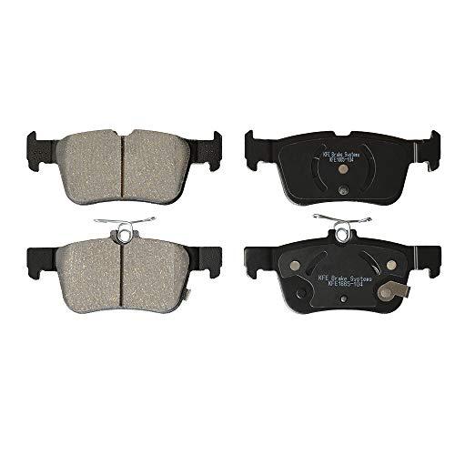 KFE KFE1665-104 Ultra Quiet Advanced Premium Ceramic Brake Pad REAR Set Compatible With: Ford Fusion, Escape, Edge; Lincoln Continental, MKC, MKX, MKZ