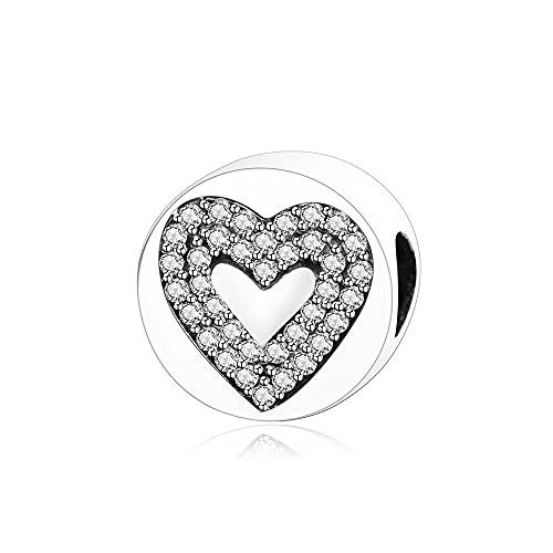 LIIHVYI Pandora Charms para Mujeres Cuentas Plata De Ley 925 Brazaletes De Joyería Moda Compatible con Pulseras Europeos Collars