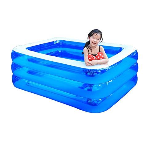 HLZY Piscina Infantil Familiar Cojín de Adultos Niños de Tierra Piscina Inflable Juego Familiar Aire Centro de Deportes acuáticos Paradise Park Summer