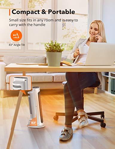 41ApaMc32vL - TaoTronics Fan Heater, Ceramic Fan Heater with Remote Control 2 Heating Levels (2000W / 1200W), Bathroom Energy-Saving…