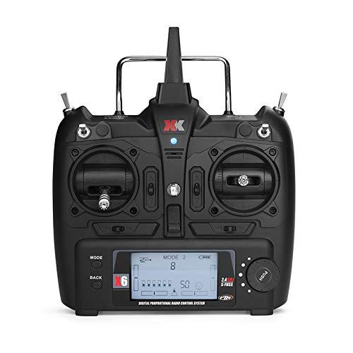 Kamenda para XK X6 2.4G 6CH Control Remoto Transmisor de Radio para XK K100 K110 K120 K123 K124 K130 X350 RC HelicóPtero