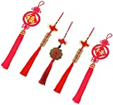 Chinese Knot, I-Ching Feng Shui Coins and Chinese Character for Good Luck and Healthy (5)